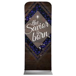 Savior Born Stained Glass Banners