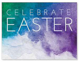 Celebrate Watercolor Easter Jumbo Banners