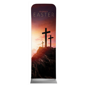 Easter Crosses Hilltop 2 x 6 Sleeve Banner