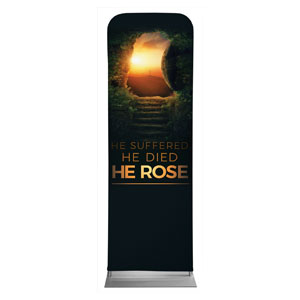 Suffered Died Rose 2 x 6 Sleeve Banner