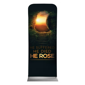 "Suffered Died Rose 2'7"" x 6'7"" Sleeve Banners"