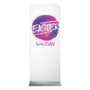 "Watercolor Circle Easter 2'7"" x 6'7"" Sleeve Banners"