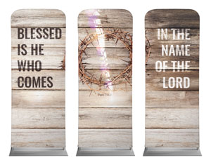 "Blessed Is He 2'7"" x 6'7"" Sleeve Banners"