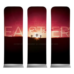 Celebrate Easter Crosses 2 x 6 Sleeve Banner