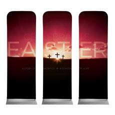 Celebrate Easter Crosses Banner