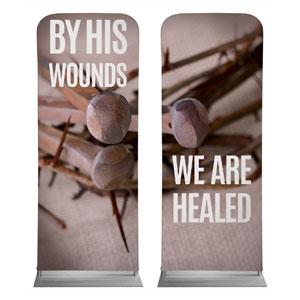"By His Wounds Pair 2'7"" x 6'7"" Sleeve Banners"