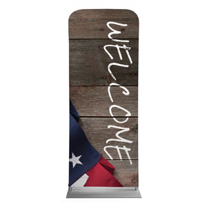 "American Flag Invited 2'7"" x 6'7"" Sleeve Banners"