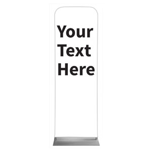 Your Text Here Black 2 x 6 Sleeve Banner