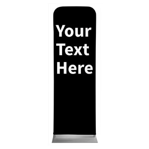 Your Text Here White 2 x 6 Sleeve Banner
