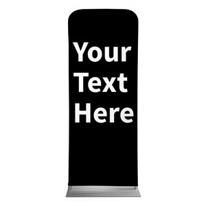 "Your Text Here White 2'7"" x 6'7"" Sleeve Banners"
