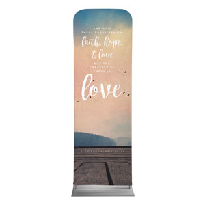 Photo Scriptures 1 Cor 13:13 2 x 6 Sleeve Banner