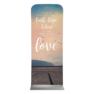 "Photo Scriptures 1 Cor 13:13 2'7"" x 6'7"" Sleeve Banners"