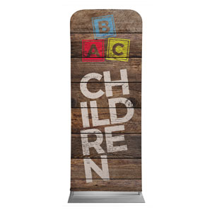 "Shiplap Children Natural 2'7"" x 6'7"" Sleeve Banners"