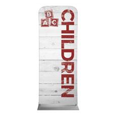 Shiplap Children White Banner