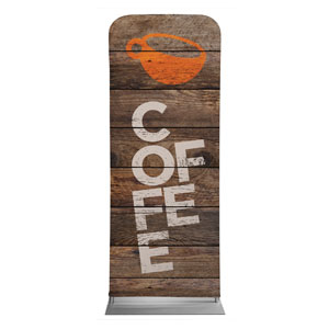 "Shiplap Coffee Natural 2'7"" x 6'7"" Sleeve Banners"