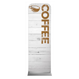 Shiplap Coffee White 2 x 6 Sleeve Banner