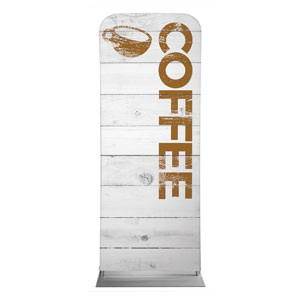 "Shiplap Coffee White 2'7"" x 6'7"" Sleeve Banners"