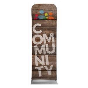 Shiplap Community Natural 2 x 6 Sleeve Banner