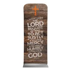 Shiplap Micah 6:8 Natural Banner