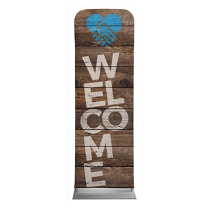 Shiplap Welcome Natural 2 x 6 Sleeve Banner