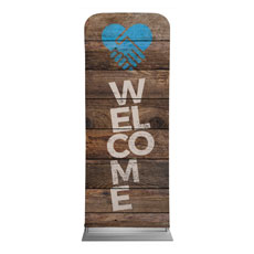 Shiplap Welcome Natural Banner