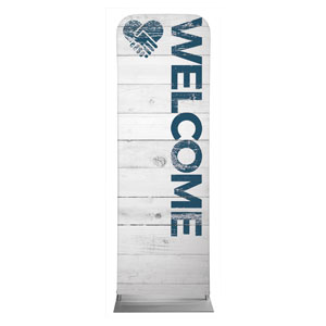 Shiplap Welcome White 2 x 6 Sleeve Banner