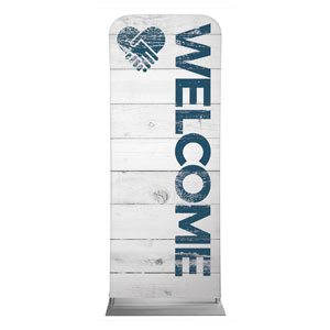 "Shiplap Welcome White 2'7"" x 6'7"" Sleeve Banners"