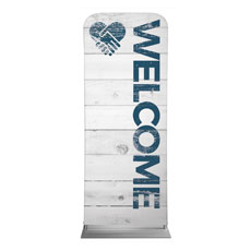 Shiplap Welcome White Banner