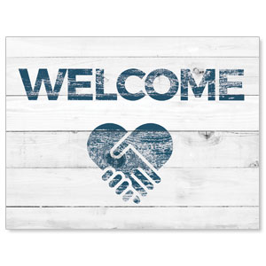 Shiplap Welcome White Jumbo Banners