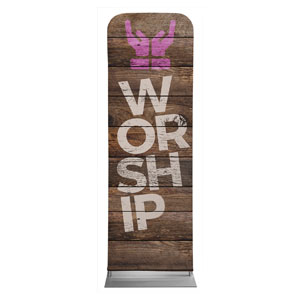Shiplap Worship Natural 2 x 6 Sleeve Banner