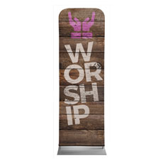 Shiplap Worship Natural Banner