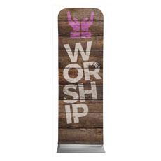 Shiplap Worship Natural Banner