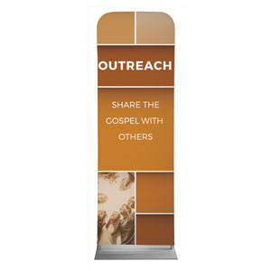 Mid Century Outreach 2 x 6 Sleeve Banner
