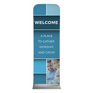 Mid Century Welcome 2 x 6 Sleeve Banner