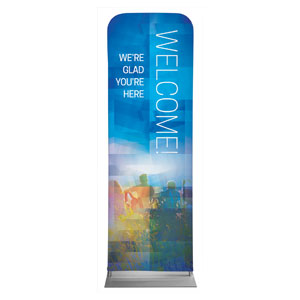 Modern Mosaic Welcome 2 x 6 Sleeve Banner