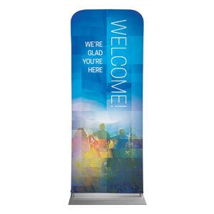 "Modern Mosaic Welcome 2'7"" x 6'7"" Sleeve Banners"
