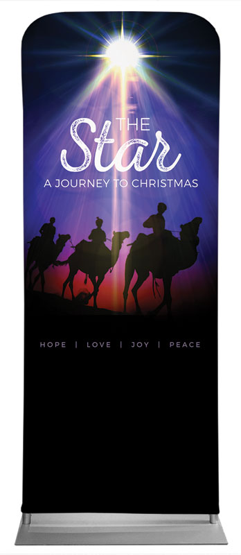Banners, Christmas, The Star: A Journey to Christmas, 2'7 x 6'7