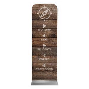 Shiplap Natural Directional Banners