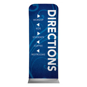 "Flourish Directional 2'7"" x 6'7"" Sleeve Banners"
