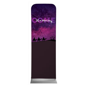 Come Let Us Adore 2 x 6 Sleeve Banner