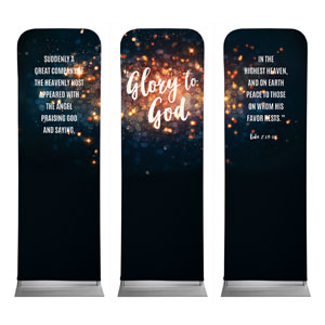 Glory to God Stars 2 x 6 Sleeve Banner