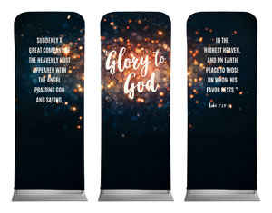 "Glory to God Stars 2'7"" x 6'7"" Sleeve Banners"