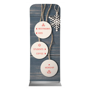Wood Ornaments Directional Banners