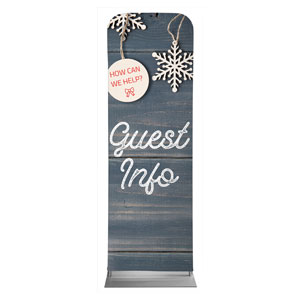 Wood Ornaments Guest Info Banners