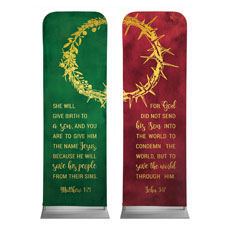 Wreath and Thorn Crown Banner