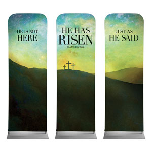 He Has Risen Matt 28:6 2 x 6 Sleeve Banner