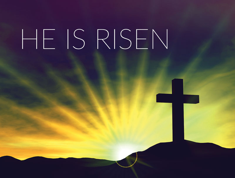 Image result for cross he is risen