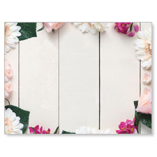 Mothers Day Note Flowers Banner