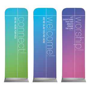 Color Wash Core Set 2 x 6 Sleeve Banner