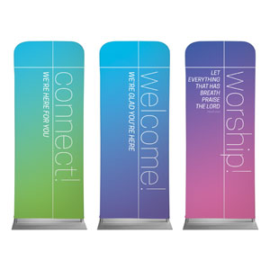 "Color Wash Core Set 2'7"" x 6'7"" Sleeve Banners"